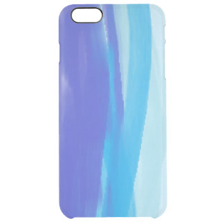 Abstract Art blue stripes Clear iPhone 6 Plus Case