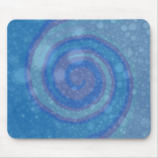 Abstract Art Blue Swirl Mouse Pad