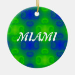 Abstract Art Blur in Blue and Green Ornaments