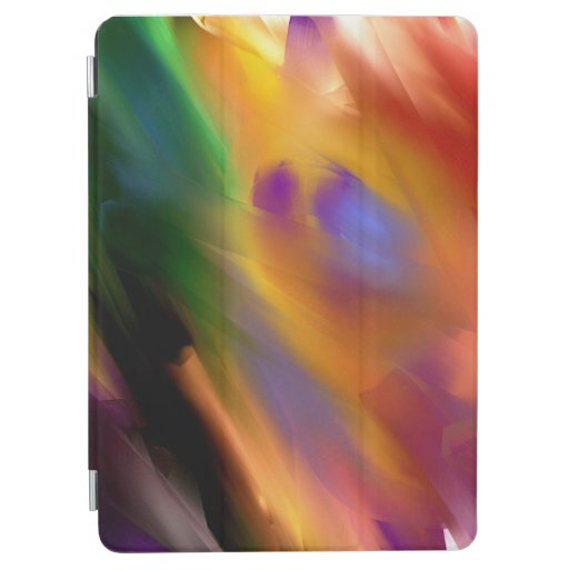 abstract art bright colors for ipad cover
