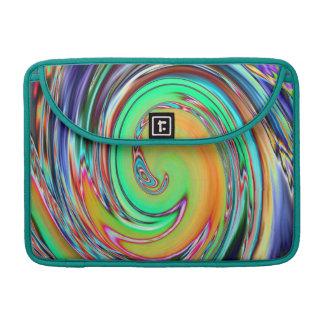 Abstract Art Bright Neon Vortex Swirls MacBook Pro Sleeve