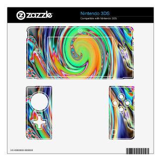 Abstract Art Bright Neon Vortex Swirls 3DS Decal