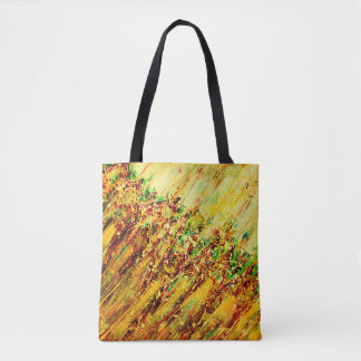 Abstract Art Brown Colorful Strokes Tote Bag