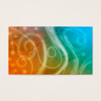 abstract art business card template colorful swirl