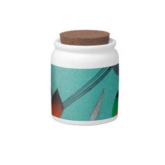 Abstract Art Candy Jar