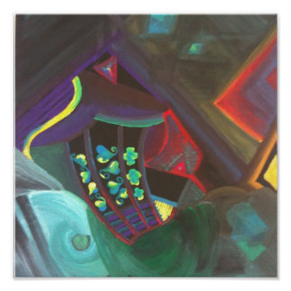 abstract art canvas poster