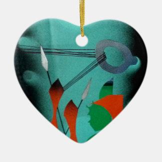 Abstract Art Ceramic Ornament