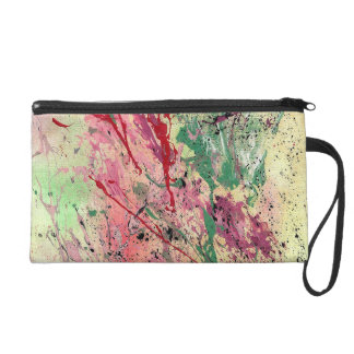 Abstract Art - Champagne Wristlet Purse