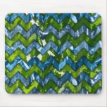 Abstract Art Chevron Design Mouse Pad