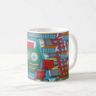 "Abstract Art Classic Designer Mug""Building Blocks"" Coffee Mug"