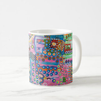 "Abstract Art Classic Designer Mug ""Dots & Ladders"""