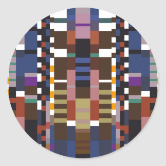 Abstract Art Classic Round Sticker