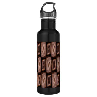 Abstract Art Coffee Beans Roasted Pattern Water Bottle