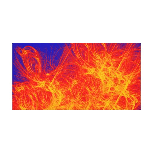 Abstract Art Cold Fire Gallery Wrap Canvas