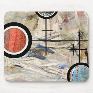 abstract art collage, mixed media and watercolor 3 mousepad