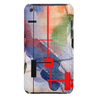 abstract art collage, mixed media and watercolor iPod Case-Mate case