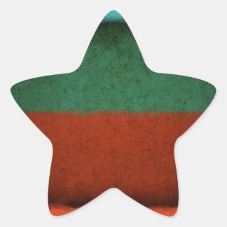 Abstract Art Color Fields Red Green Blue Grunge Star Sticker