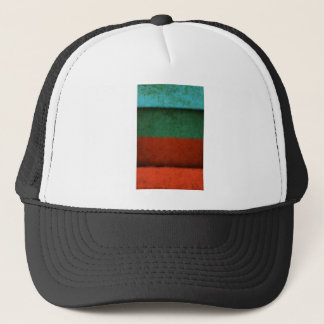 Abstract Art Color Fields Red Green Blue Grunge Trucker Hat