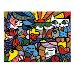Abstract Art Color Painting Postcard