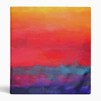 Abstract Art Colorful Modern Painting 3 Ring Binder