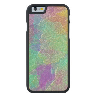 Abstract Art Colorful Textured Glass Carved Maple iPhone 6 Slim Case