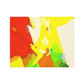 Abstract Art Composition - Positive Vibrations Canvas Print