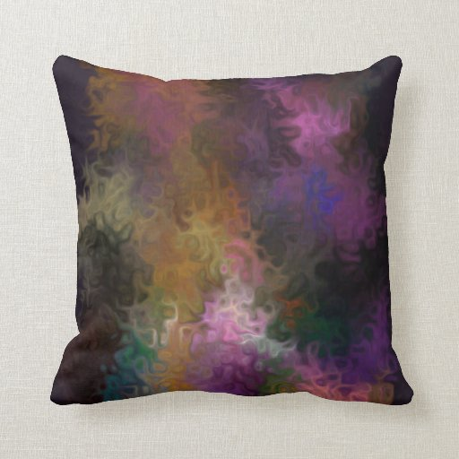 Abstract Art Contemporary Multi Colored Swirls Throw Pillow Zazzle