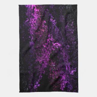 Abstract Art Contemporary Purple Celestial Curtain Hand Towel