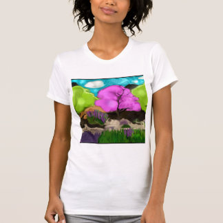 Abstract Art Cotton Candy Trees T-Shirt