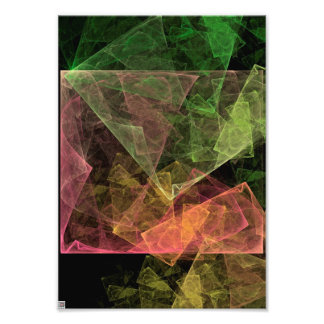Abstract Art Cubic Space Photo Print