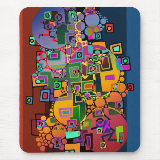Abstract Art - Dancing in the city + your ideas Mouse Pad