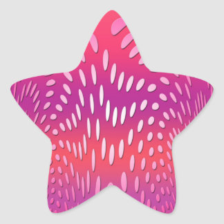 Abstract Art Dancing Pink Rain Star Sticker