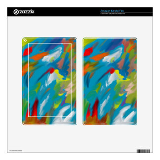 Abstract art decal for kindle fire