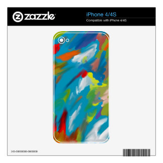 Abstract art decals for iPhone 4