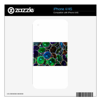 Abstract Art Decals For iPhone 4S