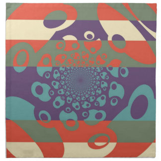 Abstract Art Deco Floral Swirls Napkin