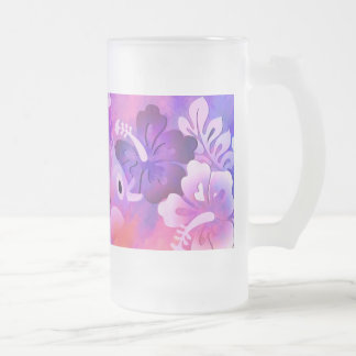 Abstract Art Design Frosted 16 oz Glass Mug