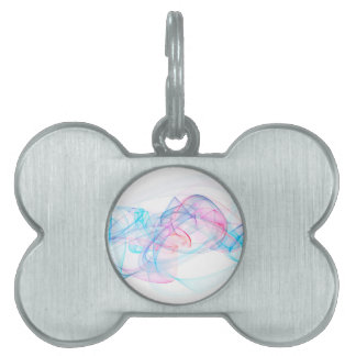 abstract art design pet tag