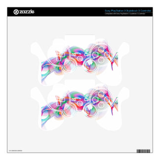 Abstract art design PS3 controller decals