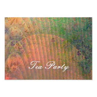 Abstract Art Design with Shell and Florals Card