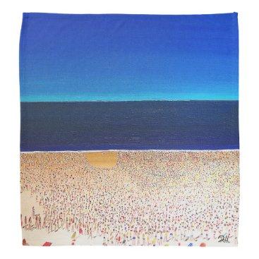 "Beach Themed Abstract Art Designer Bandanas ""Beach"""