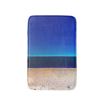 "Abstract Art Designer Bath Mat ""Beach"""