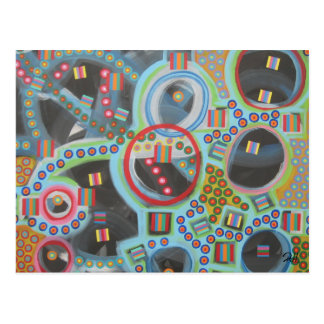 "Abstract Art Designer Postcards ""Blackhole"""
