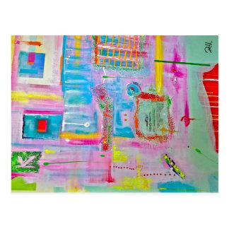 "Abstract Art Designer Postcards ""Mr Boules"""