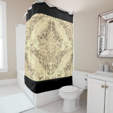 Professional Business Abstract_Art_Designs(c) Sepia_Blk_(c) Bathroom_ Shower Curtain