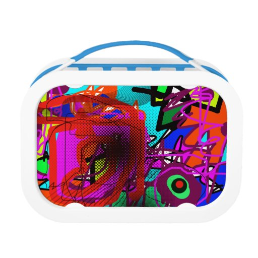 Abstract Art Digital Painting Lunch Boxes Zazzle