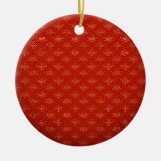 Abstract  Art Digital Red Floral Colors, Shapes St Double-Sided Ceramic Round Christmas Ornament