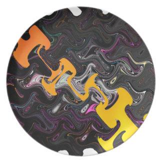 Abstract Art Dinner Plate