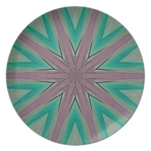 ABSTRACT ART DINNER PLATES