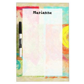 Abstract Art Dry Erase Board Custom Name
